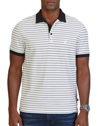 Nautica Striped Polo Shirt Marshmallow