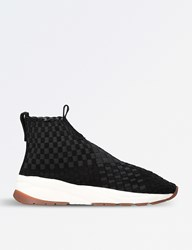 Casbia Man Rev Woven High Top Trainers Black