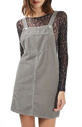Topshop Women's Moto Corduroy Pinafore Dress