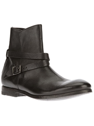 Paul Smith Buckled Biker Boots Black