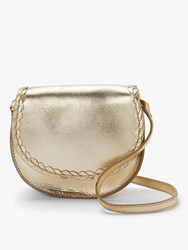 Boden Lingfield Mini Leather Saddle Bag Gold