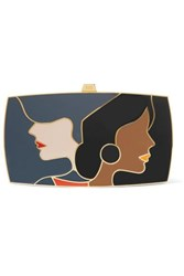 13Bc The First Encounter Gold Tone And Enamel Clutch