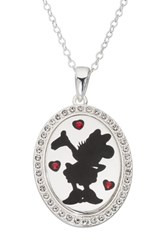 Disney Minnie Mouse 'I Choose To Be Inspiring' Pendant Necklace Silver