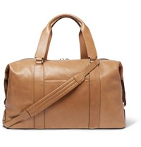 Brunello Cucinelli Leather Holdall Camel