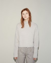 Alexander Wang Alpaca Cropped Pullover Pumice