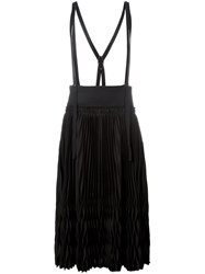 Y's Origami Pleated Skirt Black