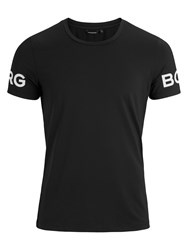 Bjorn Borg Short Sleeve Training Top Black Beauty