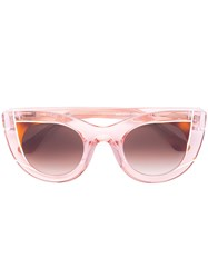 Thierry Lasry Clear Effect Cat Eye Sunglasses Women Acetate One Size Pink Purple