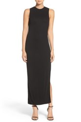 Misha Collection 'Livia' Cross Back Cutout Gown Black