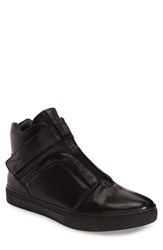 Men's Jump 'Scully' High Top Sneaker Black Leather