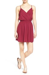 Junior Women's Frenchi Surplice Slipdress Purple Fuchsia