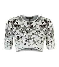 Bcbgmaxazria Knitted Crop Top Female Multi
