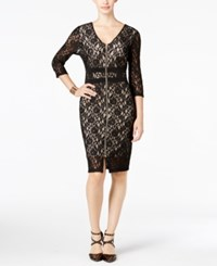 Thalia Sodi Lace Illusion Dress Only At Macy's Deep Black