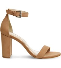Office Nina Block Heel Nubuck Sandals Nude Nubuck