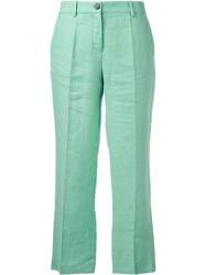 Roberto Cavalli Wide Leg Cropped Trousers Green