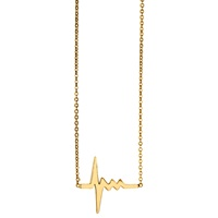 Delphine Leymarie Amour Heartbeat Necklace 18K Yellow Gold