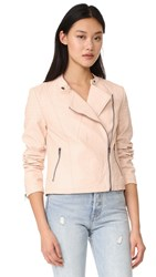 Cupcakes And Cashmere Dax Vegan Pebbled Moto Jacket Pale Peach