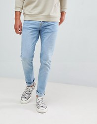 Bershka Skinny Jeans In Light Blue Light Blue