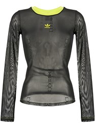 Adidas Sheer Long Sleeve Top Black