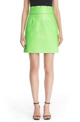 Ashley Williams Women's Neon Faux Leather Miniskirt
