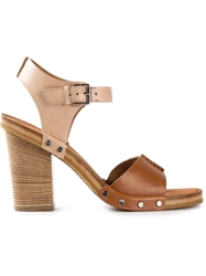 Marc By Marc Jacobs Chunky Heel Sandals Brown
