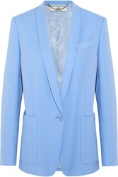 Stella Mccartney Bartlett Cotton Twill Blazer Blue