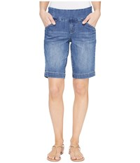 Jag Jeans Ainsley Pull On Bermuda Comfort Denim In Weathered Blue Weathered Blue Women's Shorts Navy