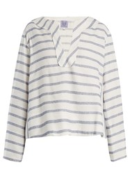 Thierry Colson Biarritz Spunga Striped Top Blue Stripe