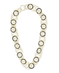 Buccellati Hawaii 18K Yellow Gold And Black Onyx Long Necklace
