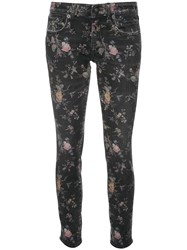 R 13 R13 Light Floral Print Jeans Black