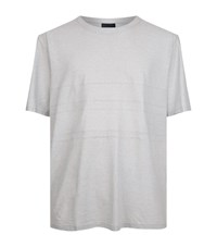 Lanvin Panelled Cotton Cashmere T Shirt Male Grey