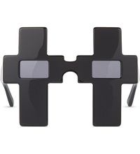 Jeremy Scott Cross Sunglasses Black