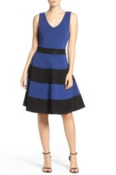 Felicity And Coco Felicty Stripe Fit Flare Dress Black