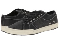 Bass Holton Black Canvas Semi Tumble Men's Lace Up Casual Shoes
