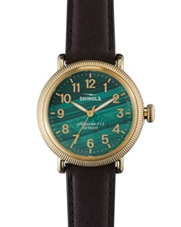 Runwell Coin Edge Watch With Leather Strap 38Mm Shinola