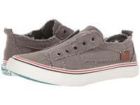 Blowfish Play Steel Grey Color Washed Cozunel Linen Women's Lace Up Casual Shoes Brown