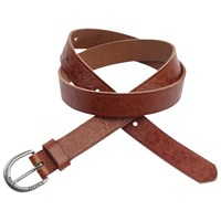 Fat Face Isla Embossed Floral Belt Tan