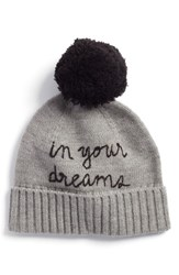 2d45d82f57a65 Kate Spade New York In Your Dreams Pom Beanie Grey Heather Gray Black