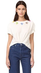 Olympia Le Tan Bloomers T Shirt Off White