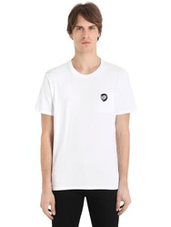 Versus Metallic Lion Cotton Jersey T Shirt
