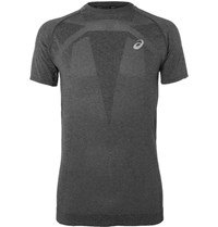 Asics Perforated Motion Dry Running T Shirt Charcoal