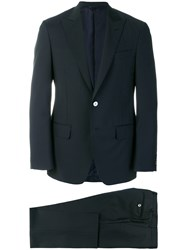 Dell'oglio Straight Fit Formal Suit Cupro Wool Mohair Blue