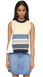 Sea Stripe Sleeveless Top Multi