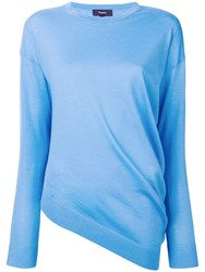 Theory Asymmetric Hem Jumper Blue