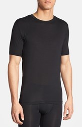 Men's Tommy John 'Second Skin' Crewneck T Shirt Black