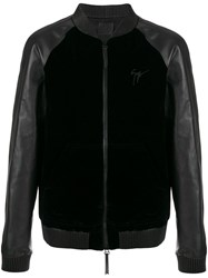 Giuseppe Zanotti Design Lance Bomber Jacket Leather Polyester Viscose Xl Black
