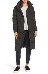 Trina Turk Women's Carley Packable Long Coat Black