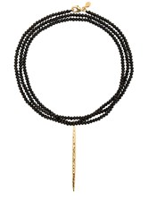 Gorjana Nora Beaded Long Necklace Metallic Gold