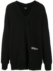 Calvin Klein 205W39nyc Deep V Neck Jumper Black