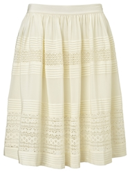 Alice By Temperley Somerset By Alice Temperley Lace Insert Silk Skirt Ivory